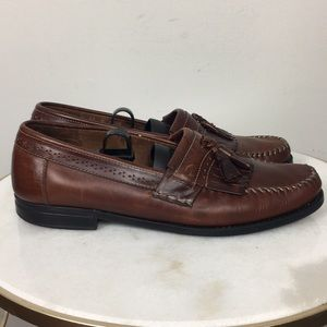 Weejuns G H Bass Leather Tasseled Loafers Sz 11